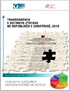raporti 2010, kopertina