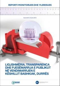 Ligjshmeria, Transparenca dhe Pjesmarrja e publikut ne vendimarrjen e keshillit bashkiak Durres, 2012-2013