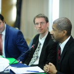 USAID director Marcus JOhnson, INFOCIP, gerti shella