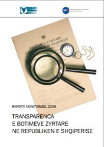 Transparenca e Botimeve Zyrtare ne Republiken e Shqiperise 2009