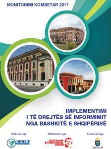 raporti 2017, implementimi i te drejtes per informim nga 61 bashkite e shqiperise