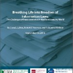 BREATHING LIFE INTO FREEDOM OF INFORMATION LAWS